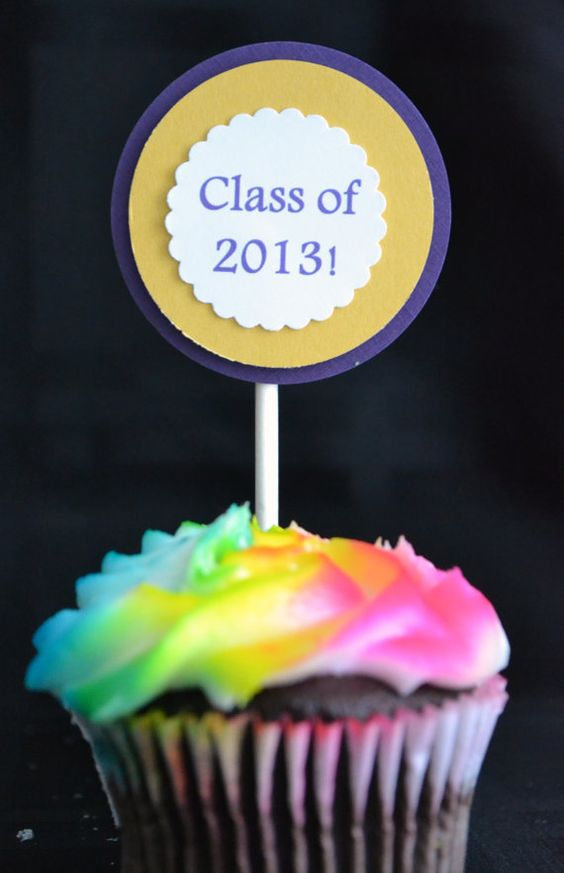 Cupcake Toppers Set of 12 Graduation Party Class by theeyesofmarch, $10.00