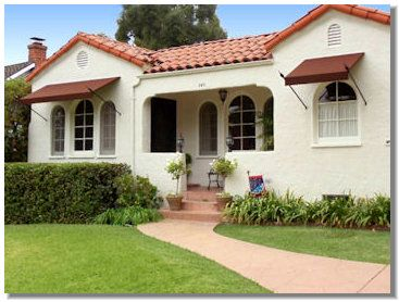 Canvases spanish style houses and window awnings on pinterest for Spanish style homes for sale near me