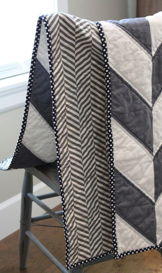 This herringbone blanket would make a great baby shower gift.: