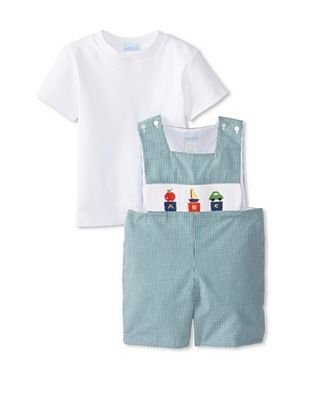64% OFF Viva La Fete Kid's ABC Shortall (Green)
