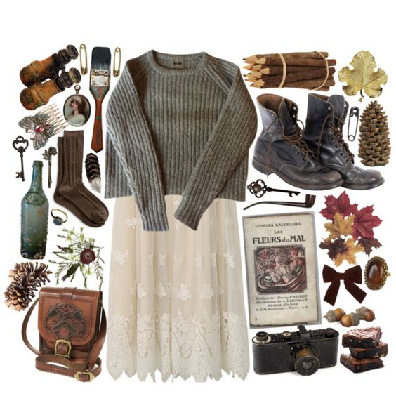 """""""lace in autumn"""" by hiddlescat on Polyvore"""