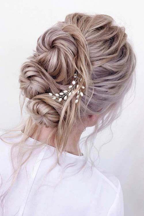 Coiffure Hiver Cheveux Long Chignon Mariage Coiffure