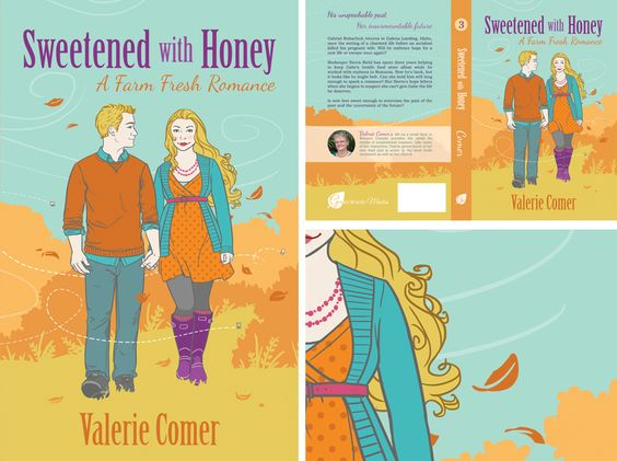 Sweetened with Honey by Valerie Comer | The Book Cover Bakery