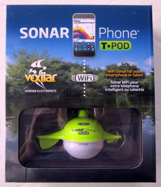 vexilar sp100 sonarphone t-pod fishfinder | phones and fish, Fish Finder