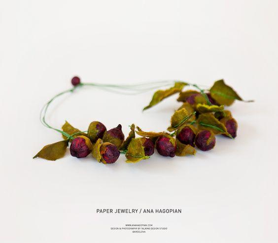 © photo: Fabián Vázquez Savareikas; paper jewelry; joyas de papel Talking Design Studio Barcelona anahagopian.com/ www.bytalking.com/