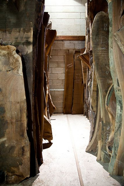 This is one of the most valuable collections of wood in the world, many lengths of old growth trees in the Nakashima collection do not even exist anymore.