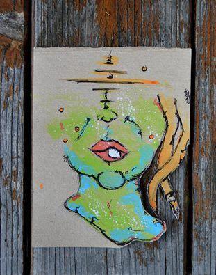 """~ Dentone. ° """"Confessiamo i piccoli difetti solo per far credere che non ne abbiamo di più grandi."""" Francois de La Rochefoucauld. ▶Autoritratto. 11.Ago.'16 ▶Cartone grezzo. Tempera e Acquarello. Penna nera.  Indelebile nero. #Art #Passion #Life  https://www.facebook.com/Art-Eli-1528511144138000/?ref=bookmarks"""