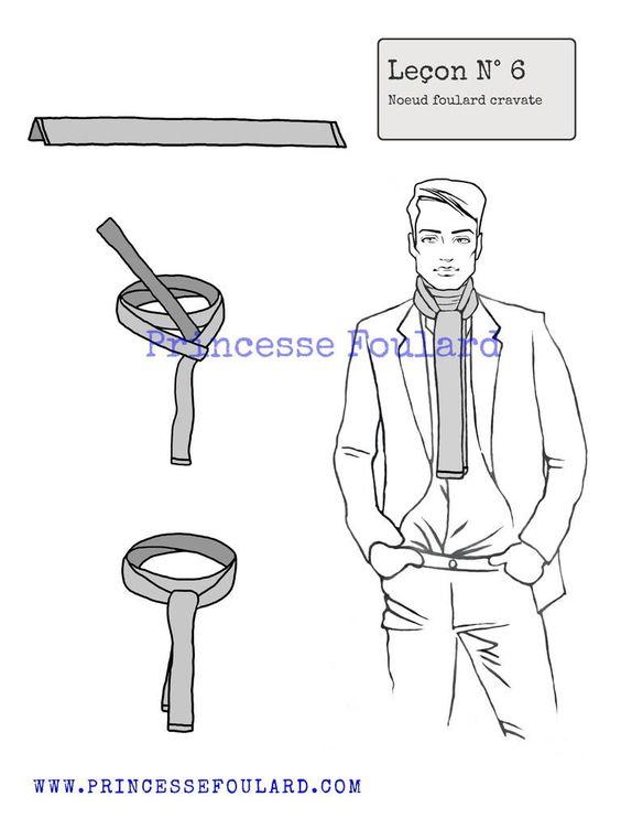 noeud de foulard en cravate d 39 homme blog and comment. Black Bedroom Furniture Sets. Home Design Ideas