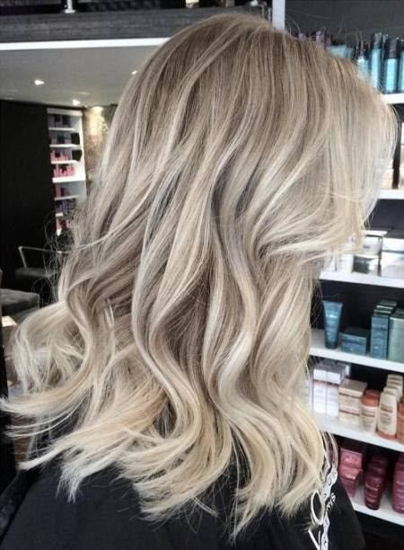 Ash blonde waves blonde balayage