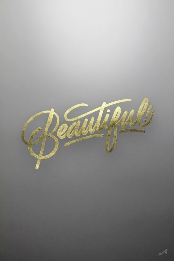 Ricardo Gonzalez / Gold lettering / Callography / Fine Arts / Typography