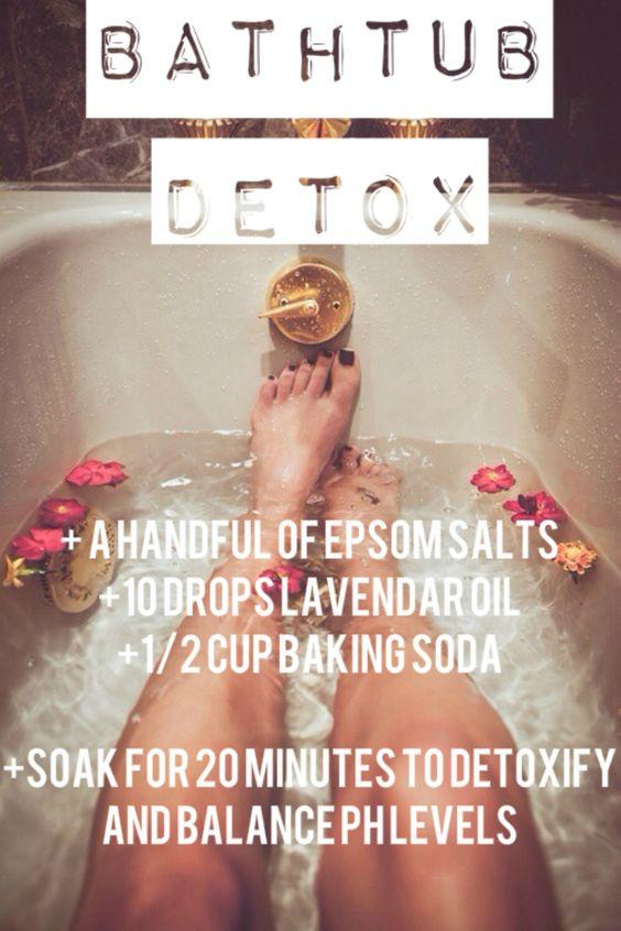 3 best DIY Bath Time Detox recipes - ginger detox, salt detox and clay detox....: