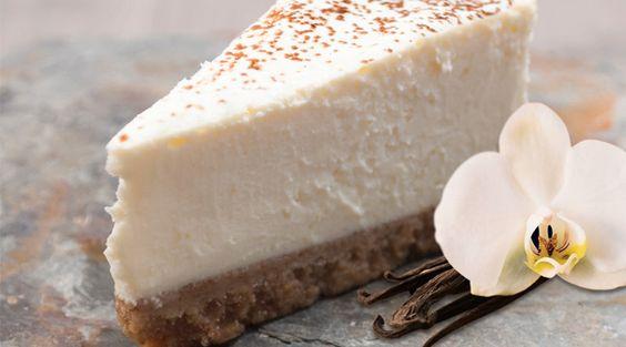 کیک پنیر وانیلی