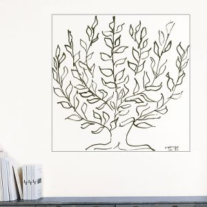A whimsically sketched tree is all you need to dress up a corner of your office or study.