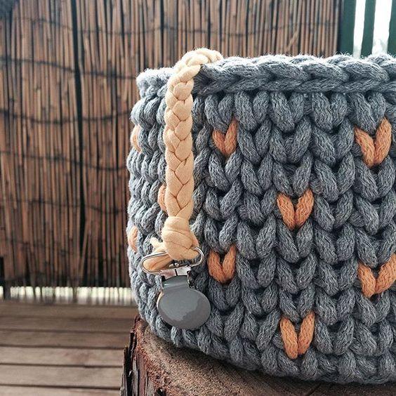 хлопковый шнур для вязания корзинка