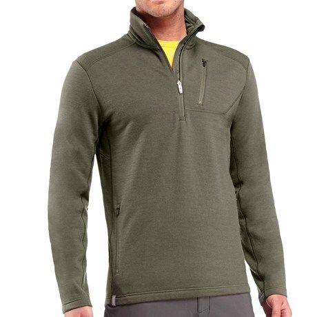 Icebreaker Sierra Fleece Jacket - Merino Wool Zip Neck (For Men