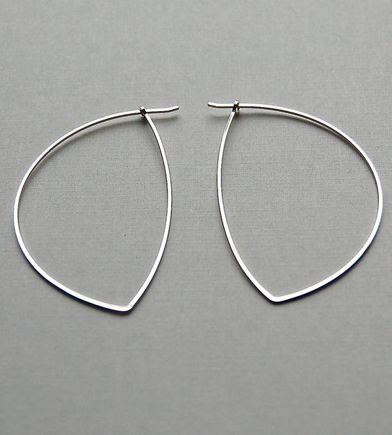 Avalon Sterling Silver Hoop Earrings | We've had it up to here with regular ol' hoop earrings. (We're... | Earrings