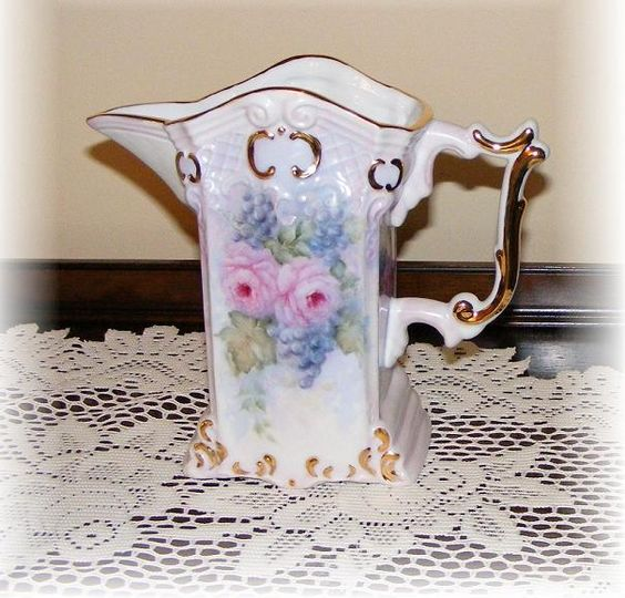 grapes & roses pitcher by Priscilla