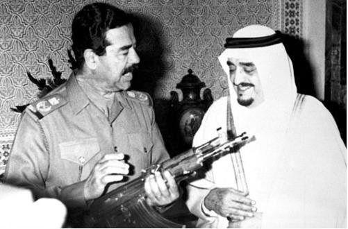 صدام حسين مع العاهل السعودي