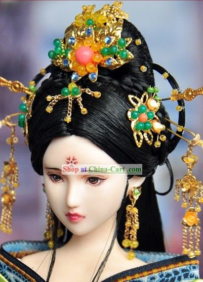 Ancient Chinese Princess Hair Accessories and Wig