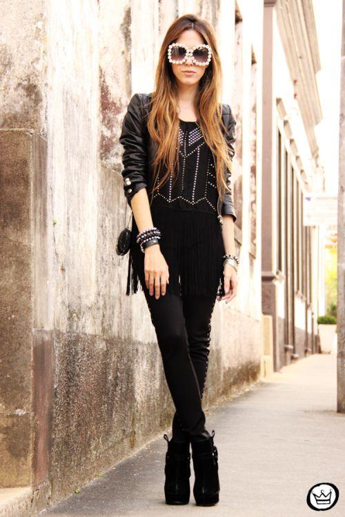 legging: Displicent  top: Romwe  jaqueta|jacket: Boda Skins  sunglasses: Chicwish  bolsa|bag: Santafina  bracelets: Santafina  sapato|shoes: Boohoo