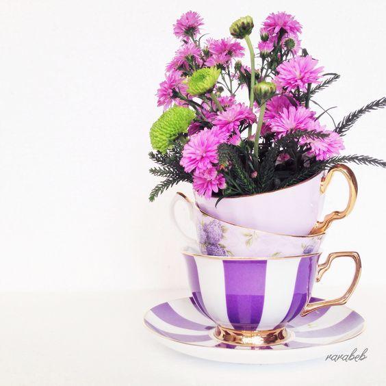 purple teacups