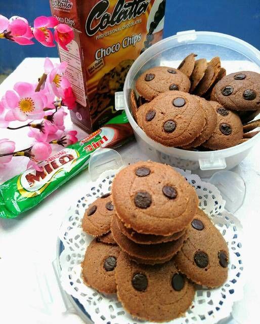 Milo Cookies No Mixer By Selene Cake Makanan Manis Kue Kering Makanan
