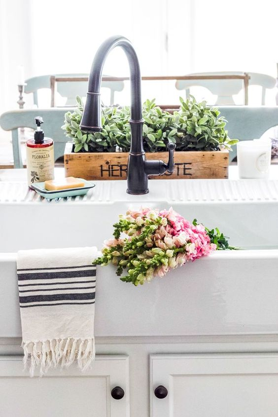 IKEA Farmhouse Sink Review | http://blesserhouse.com - What to know before buying the Ikea farmhouse sink Domsjo- how well it cleans, how functional it is, and if it's the right investment for your kitchen. - popular pin