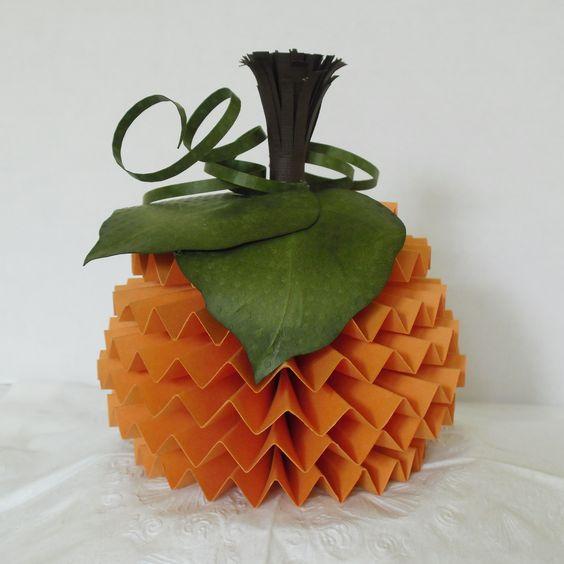 TableScapes - 3D Paper Pumpkin | Cards | Pinterest ...