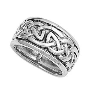 https://ariani-shop.com/rhodium-plated-sterling-silver-wedding-engagement-ring-celtic-design-band-10mm-size-6-to-14 Rhodium Plated Sterling Silver Wedding & Engagement Ring Celtic Design Band 10MM ( Size 6 to 14)
