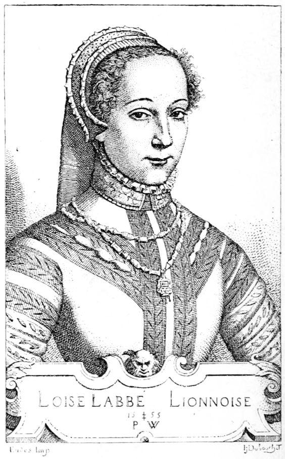 Louise Labé par Pierre Woeiriot. Poétesse française 1524/1566