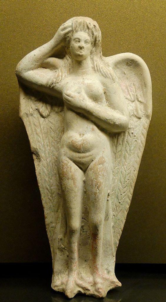 0750 Sirena in una statua funeraria del I secolo a.C