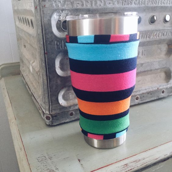Yeti Rambler Sock - bright stripe