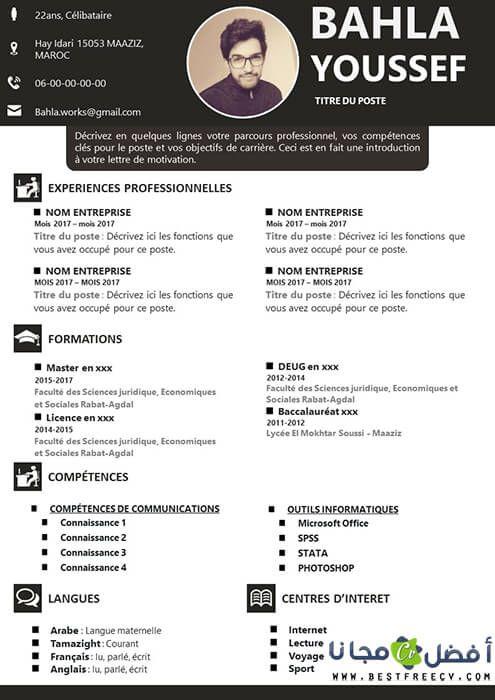 نموذج سيرة ذاتية بالفرنسية Creative Cv Template Creative Cv Cv Template