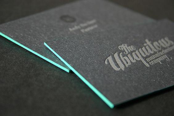 Edge Painted Letterpress Business Cards by blush°° , via Behance