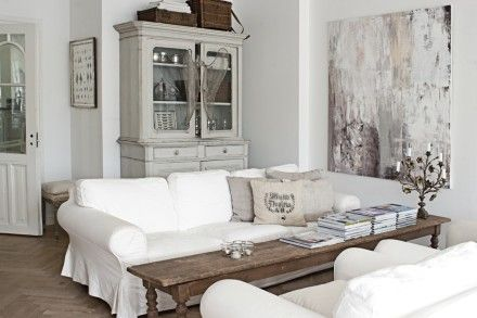 The home of Swedish decorator Nina Hartmann-Sundgren, author of Vintage By Nina: Coffee Table, Livingroom, Living Room, Family Room, White Couch, White Room