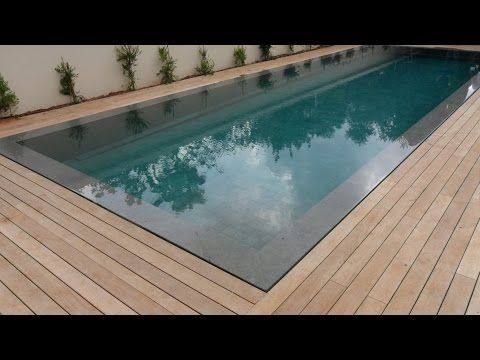 Teak Decking Installation Around Swimming Pool With Hidden Fasteners Youtube Wood Pool Deck Pool Decks Pool Landscaping