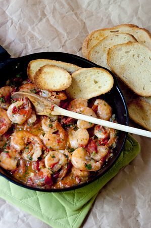 Celantro Lime Shrimp  (tomatoes - serves 2)