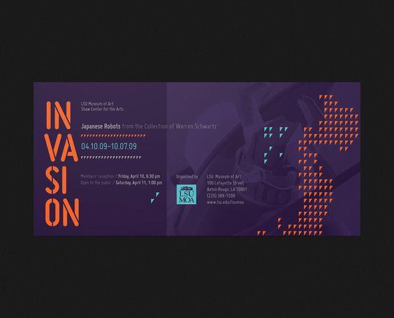 Branding & Identity / LSU Museum of Art Invasion invite