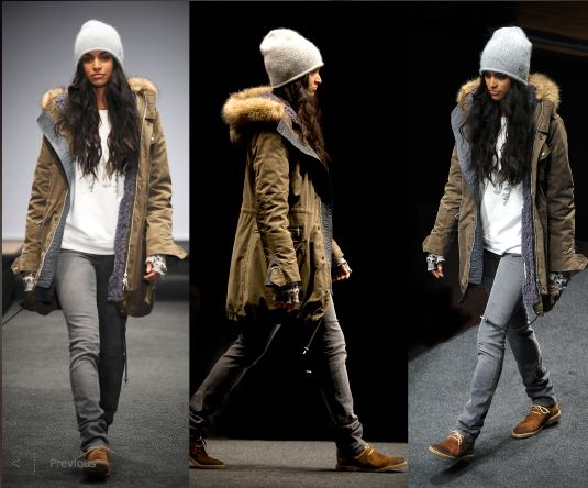 True North Style: mission winter c o a t = the aritzia military