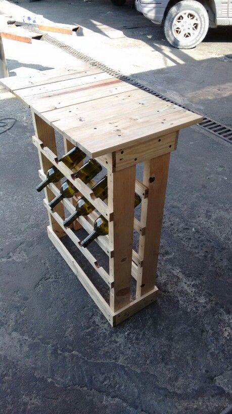 Rack de vinos...