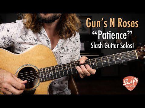 Guns N Roses Patience Slash Guitar Solos Lesson Youtube