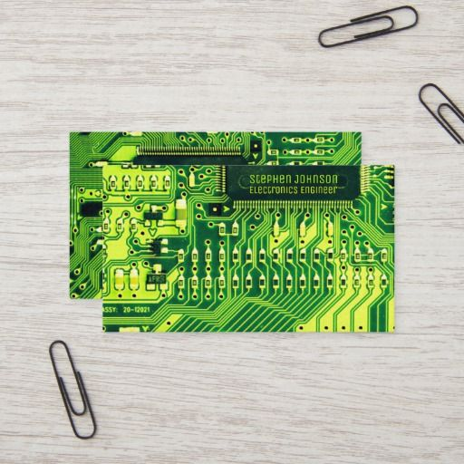 Green Pcb Board Circuit Electronics Engineer Business Card Zazzle Com Business Cards Creative Photography Business Cards Photography Business Cards Template