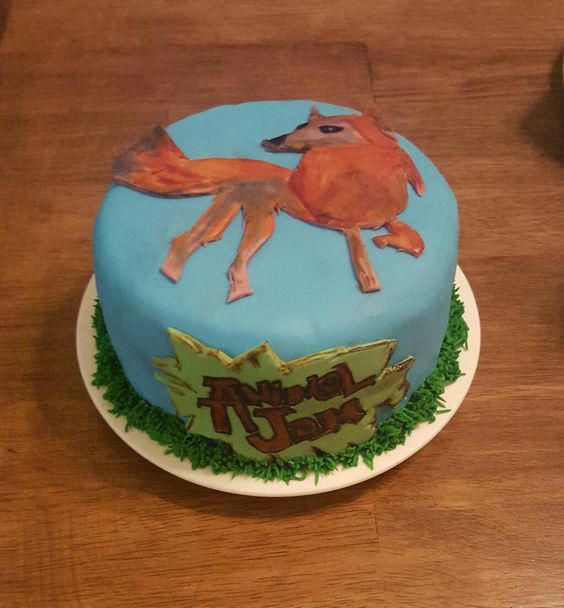 Animal Jam end of school year cake: