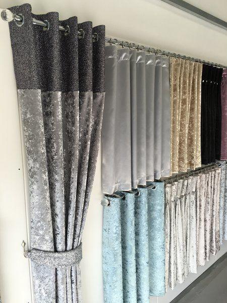 Luxury Glitter Top Eyelet Curtain Curtains Range Crushed Velvet The Glitter Furniture