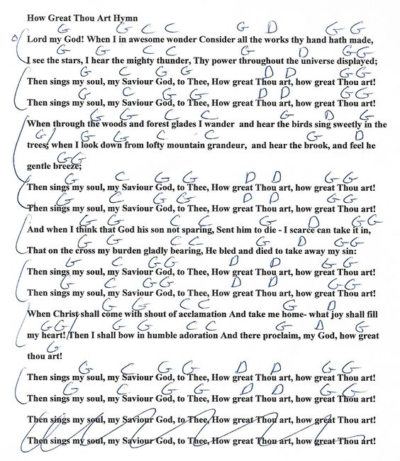 New Lyrics Of How Great Thou Art With Chords Lyrics
