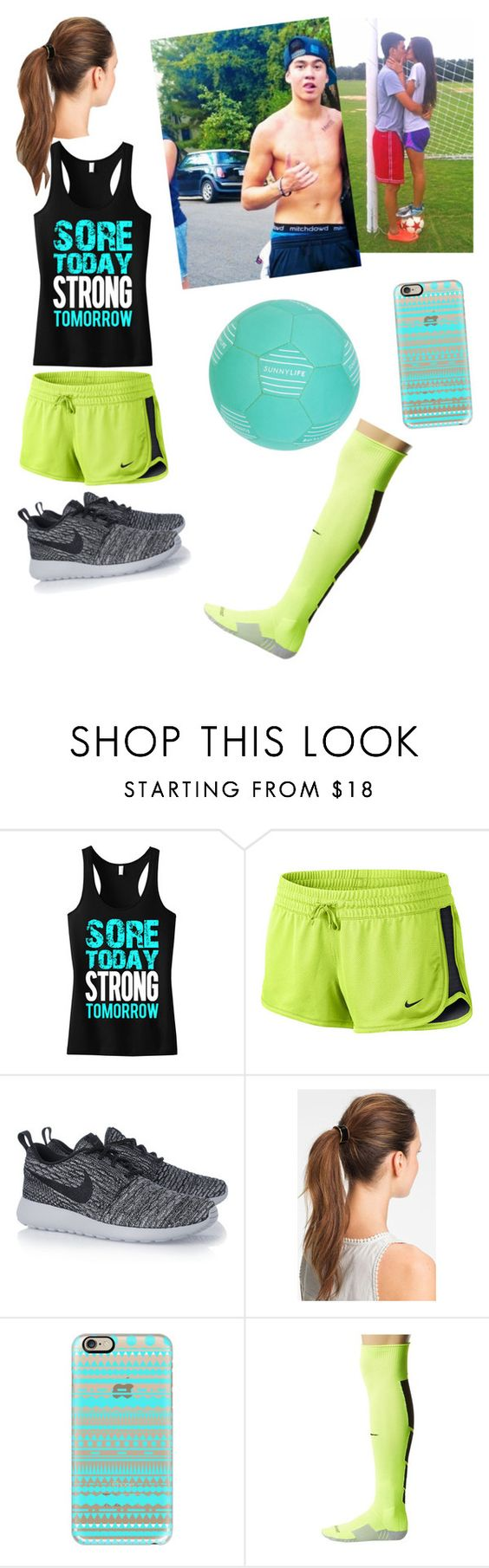 """Playing soccer with cal"" by macksimmons21 ❤ liked on Polyvore featuring beauty, NIKE, L. Erickson, Casetify and Sunnylife"