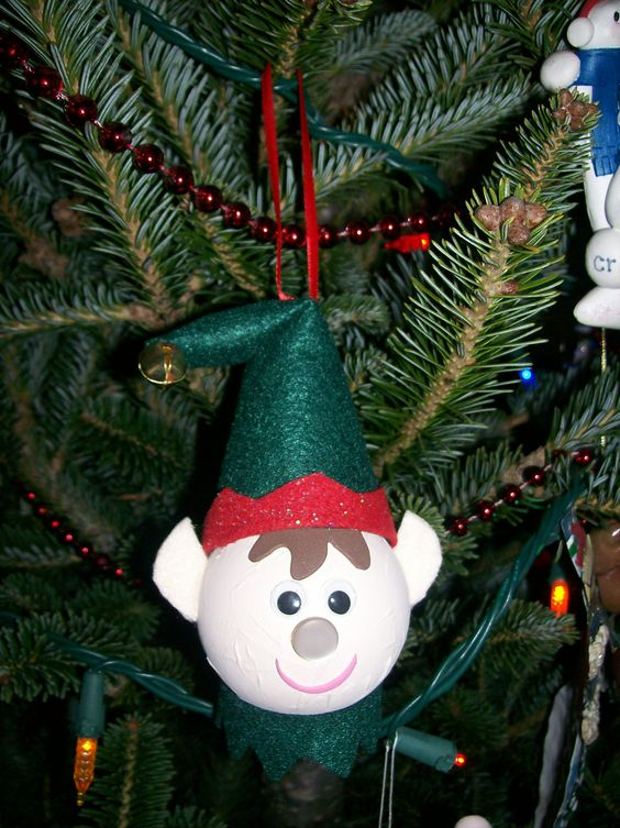 Light Bulb Elf Ornament Christmas Ornaments You Can Make
