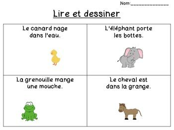 Printables French Reading Comprehension Worksheets french reading comprehension read draw la de and worksheets for print pages have students to add the images bas