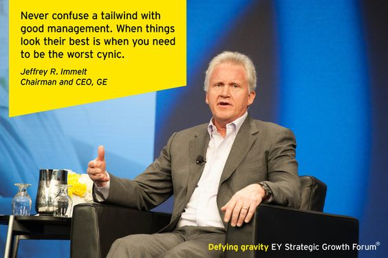 Jeffrey R. Immelt, Chairman and CEO, GE in conversation with Mark A. Weinberger, EY Global Chairman & CEO, at the EY Strategic Growth Forum®, November 13-17, 2013 Palm Springs, California. #businessquotes #business #management