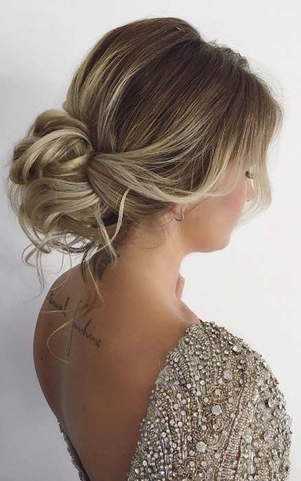 Pretty Low Bun Updo Promhairstyles Ball Hairstyles Hair Styles Hairstyles For Thin Hair